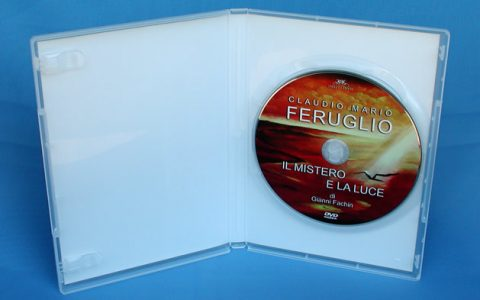 DVD Box trasparente con inlay 4/0.